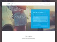 DropCar club landing page design