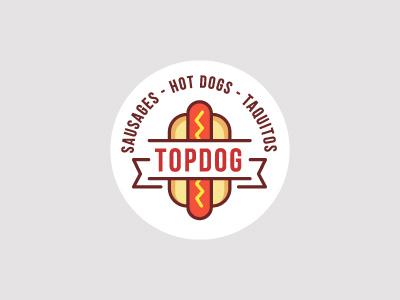 Top Dog Logo logo dog hot top bun sausage sausages hot dog