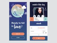 Dating app UI