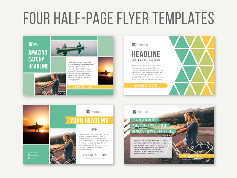 half page flyer designs by joanna haecker dribbble dribbble
