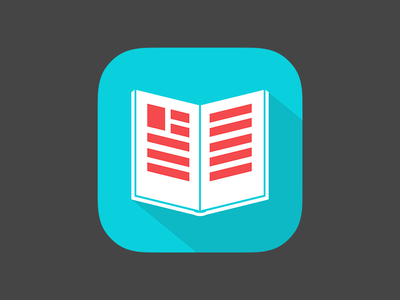 App Icon for a book icon ios7 app icon book