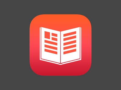 App Icon for a book app icon app icon book ios7 gradient