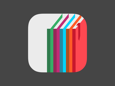 App Icon for a book app icon app icon book ios7 magazine