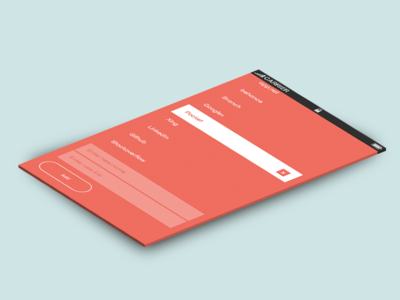 Responsive chrome extension list red responsive html5 flat angular.js