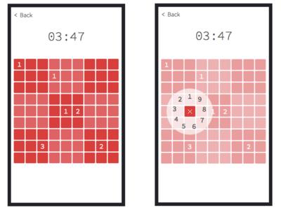 Sudoku concept game html5 iphone app concept flat