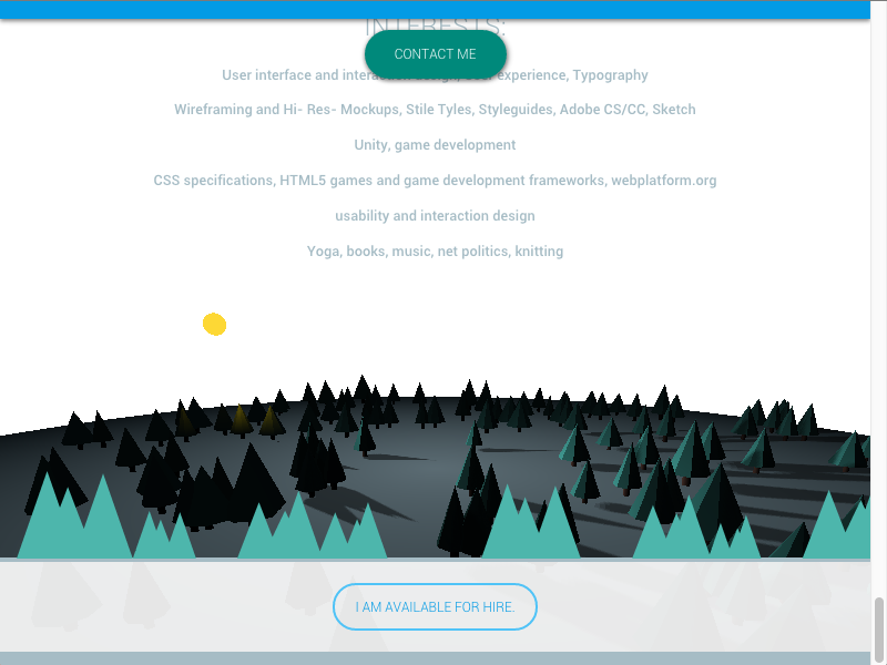 WebGL Animation for Portefolio Website by Michaela Lehr | Dribbble