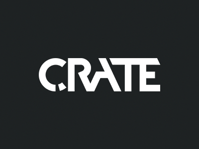 Logo for CRATE magazine logo dark magazine