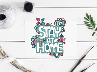 Stay at Home covid19 stay at home graphic design design vector doodleart illustration