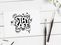 Stay Safe stay safe covid19 cute animals graphic design design vector doodleart illustration