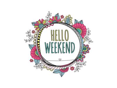Hello Weekend doodleart weekend creative market vector illustration