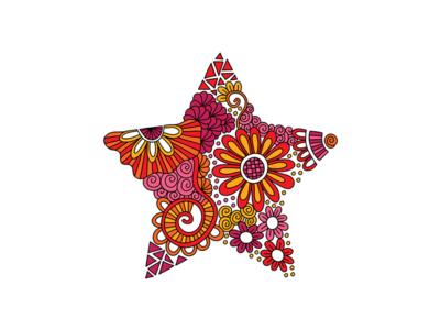 Star Doodle Illustration script bright star illustration vector creative market doodleart