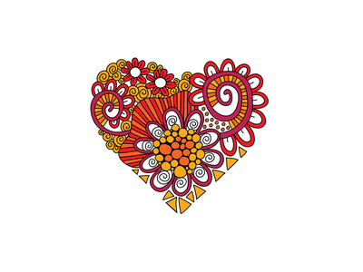 Heart Doodle Illustration hear hand drawn heart creative market doodleart vector illustration
