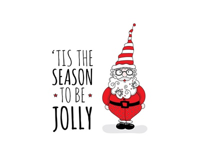 Jolly Santa jolly christmas santa claus vector creative market illustration