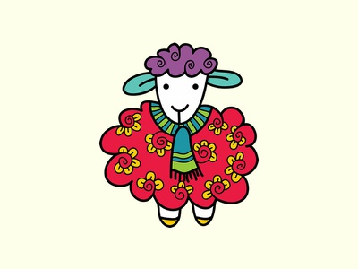 Doodle Sheep sheep cute animals vector doodleart creative market illustration