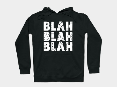 Blah Blah Blah words letters apparel graphic design design doodleart vector illustration