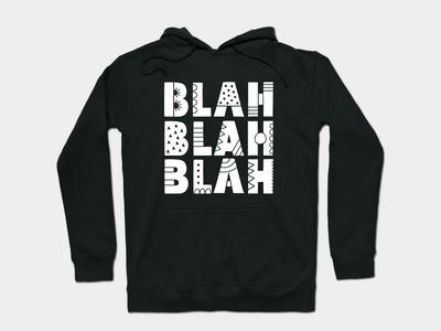 Blah Blah Blah words letters apparel graphic design design doodleart vector illustration