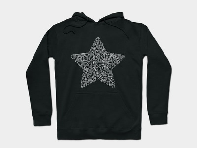 White Star Doodle white star apparel star graphic design design doodleart vector illustration