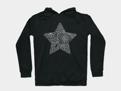 White Star Doodle white star apparel star graphic design design doodleart vector illustration