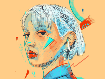 Definition sketch procreate painting sketchy style woman faces illustrated portrait portrait illustrations illustration face