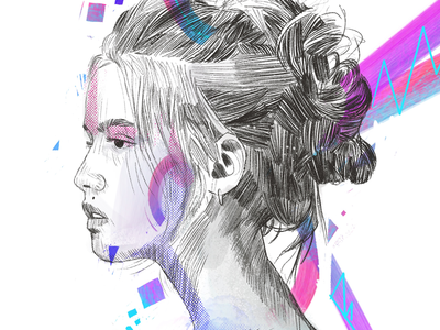 Morning sun sketching painting portrait painting portrait illustration illustration portrait brushes