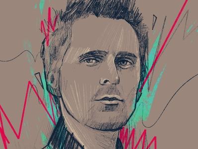 Matt Bellamy character people 2d vector illustrator flat illustration faces portrait illustration portrait painting portrait art portrait rockstar
