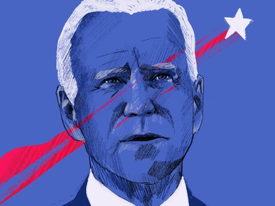 Joe Biden portrait editorial character people illustrator important illustration portrait illustration time president usa united states america vote elections