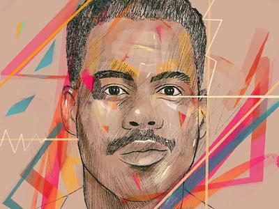 Chris Rock brushes procreate portraits portrait art portrait painting portrait illustration portrait character people illustrator illustration fargo comedian