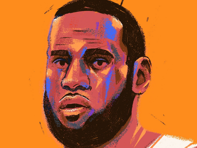 Lebron James lakers nba face porcreate painting portrait basketball lebron james