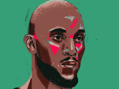 Kevin Garnett procreate painting portrait painting faces portrait player boston celtics basketball nba kevin garnett