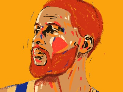 Stephen Curry editorial 2d character procreate portrait art portrait painting portrait illustration illustration illustrator portrait nba basketball player basketball