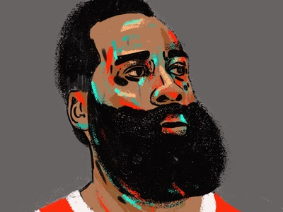 James Harden people illustration illustrator portrait art portrait painting portrait illustration editorial character portrait basketball player basketball nba houston rockets james harden