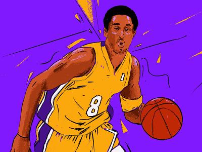 Kobe Bryant portrait art editorial portrait painting portrait illustration people illustrator illustration portrait rip basketball player legend nba kobebryant