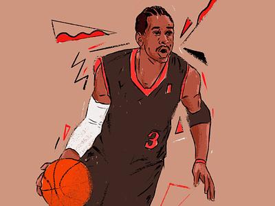 Allan Iverson procreate illustrator illustration design portrait art portrait painting portrait illustration editorial portrait character nba basketball player basketball