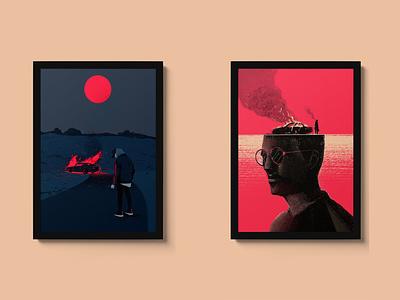 Prints of the series illustrator print design print out illustration series printing prints print