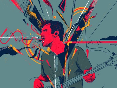 All them witches editorial portrait character people illustration illustrator front man musician live music concerts gig singer rocknroll music