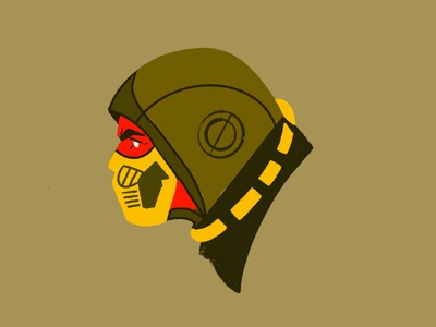 Scorpion procreate character vector portrait 2d flat people illustrator illustration scorpion mortal kombat