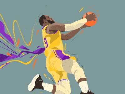 Lebron James design portrait character people illustrator illustration nba finals action player losangeles lakers basketball nba the king lebron james