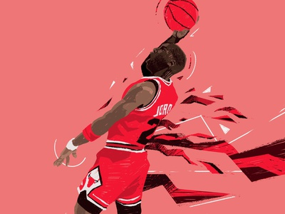 MJ 23 procreate portrait illustration portrait flat character people illustrator illustration player basketball player legend nba basketball 23