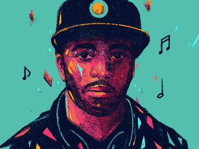 Alfa Mist rappers editorial design portraits procreate portrait art portrait painting portrait illustration people illustrator illustration jazz rap rapper alfa mist