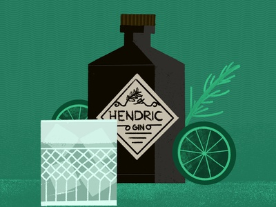 G&T procreate branding design vector 2d flat illustration drink drunk alcohol gin and tonic cocktail classic