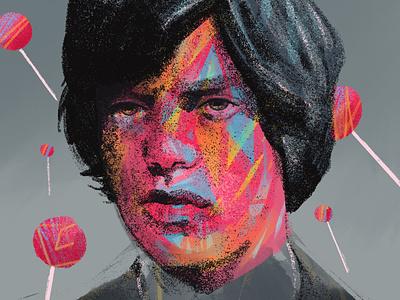 Mick Jagger character portrait painting portraits procreate portrait art portrait illustration people illustrator illustration portrait mick jagger