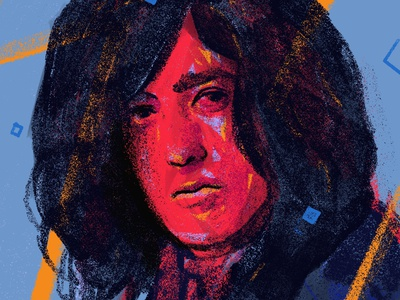 Jimmy Page portraits procreate portrait art portrait painting portrait illustration people illustrator illustration rocknroll music singer led zeppelin jimmy page