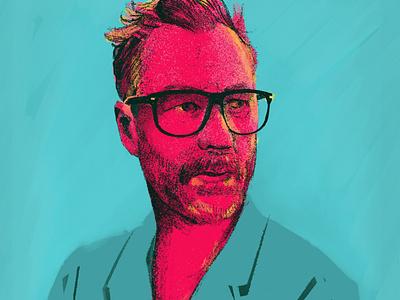 Matt Berninger character singer rocknroll musician face brushes procreate portrait art portrait people illustrator illustration