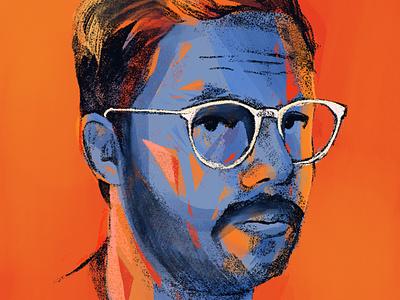 Orange Sky orange face portrait illustrations procreate portrait art portrait people illustrator illustration