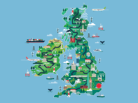 Shortlist Magazine - UK map illustration