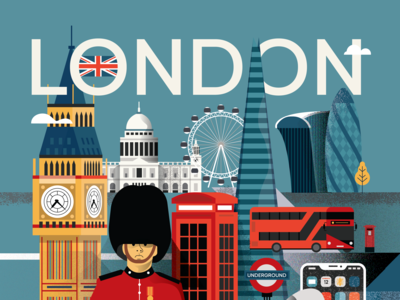 London Poster - Upper side of the poster