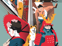 Tokyo Poster - Lower side