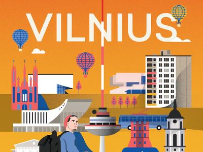 Vilnius Poster - Upper side