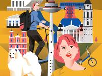 Vilnius Poster - Lower side