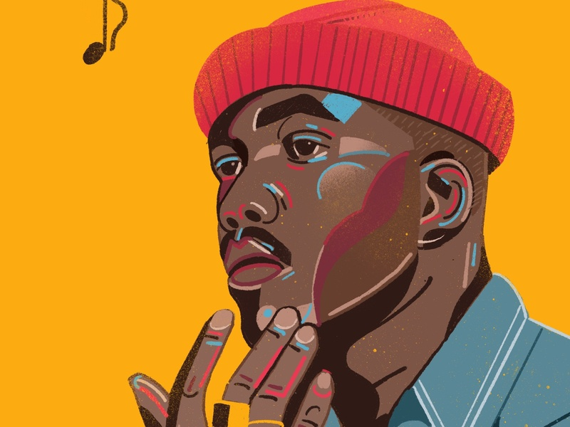 Jacob Banks portrait magazine editorial icon people illustrator character 2d flat vector illustration portrait illustrated jacob banks